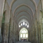 Classically spartan Cistercian church at the Abbey de Fontenay