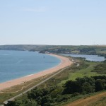 The south coast of Devon at Slapton Ley
