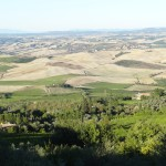 The enormous view from Montalcino