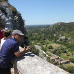Looking out from Les Baux de Provence