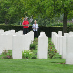 David and Jill at the British and Commonwealth war cemetery at Hermanville