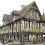 Typical Normandy building in Beaumont-en-Auge