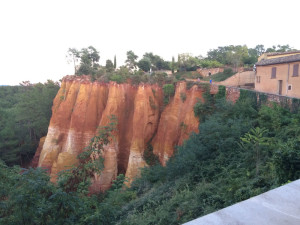 Spectacular ochre cliffs at Rousillon