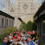 Outside the Duomo in Orvieto