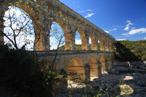 The Pont du Gard.