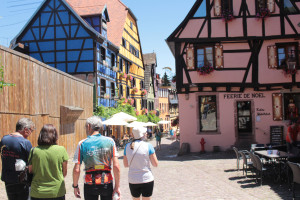 Walking through Riquewihr