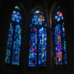 Satied glass windows in Reims Cathedral.
