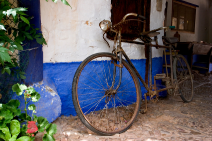 An Old tandem Bicycle